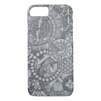 Steampunk Clock and Compass Zendoodle iPhone 7 Case