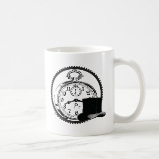 steampunk clock,gear,hat mug