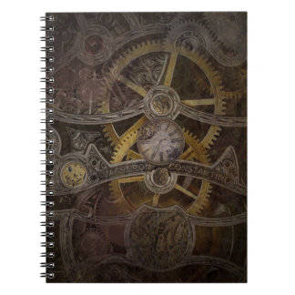 Steampunk Clock Gears Notebook