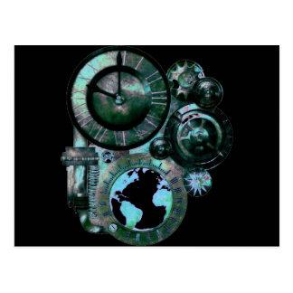 Steampunk Clock Postcard