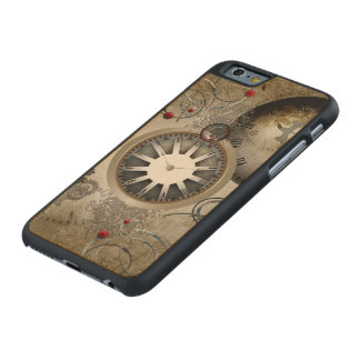 Steampunk, clocks and gears carved® maple iPhone 6 slim case