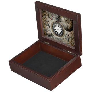 Steampunk, clocks and gears memory box