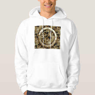 Steampunk Clocks  Gold Gears Mechanical Gifts Hoodie