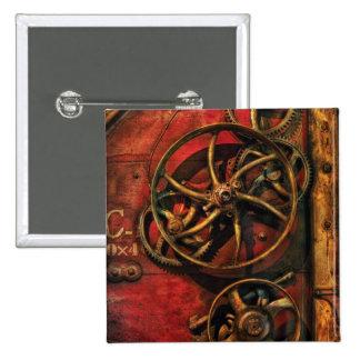 Steampunk - Clockwork Pinback Buttons