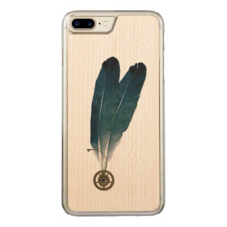 Steampunk Cogs and Feathers Carved iPhone 8 Plus/7 Plus Case