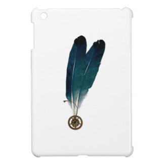 Steampunk Cogs and Feathers Case For The iPad Mini
