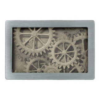 Steampunk Cogwheels Rect Belt Buckle