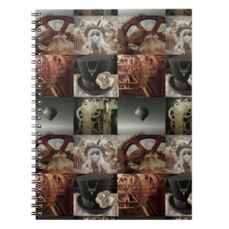 Steampunk Collage Hardcover Notebook