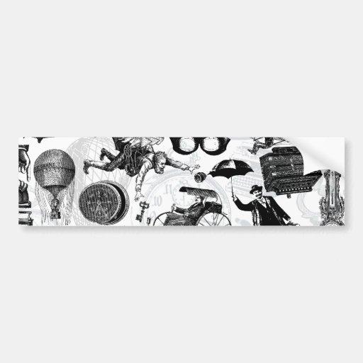 Steampunk Collage Number 2 Bumper Sticker