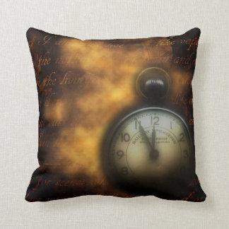 Steampunk cotton throw pillow