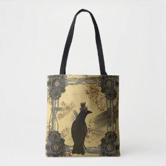 SteamPunk Crow Tote Bag
