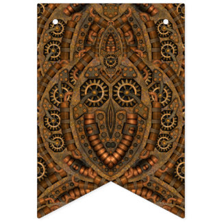 Steampunk Custom Party Bunting Banner