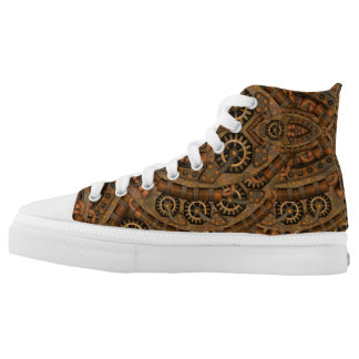 Steampunk Custom Zipz High Top Shoes Printed Shoes