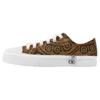 Steampunk Custom Zipz Low Top Shoes