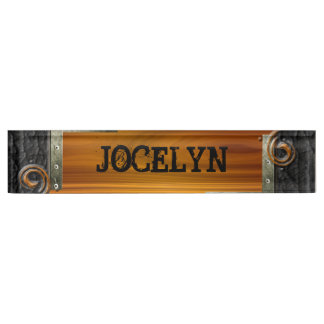 Steampunk Customize Leather Nameplate