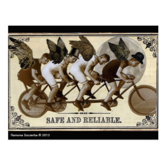 Steampunk Cyclists Postcard