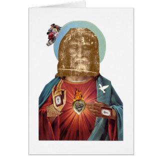 Steampunk Dada Religious Figure Benediction Dada Greeting Card