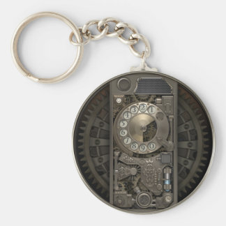 Steampunk Device - Rotary Dial Phone. Key Ring