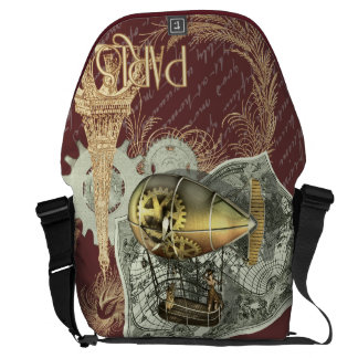 Steampunk Dirigible Air Tour Large Messenger Bag