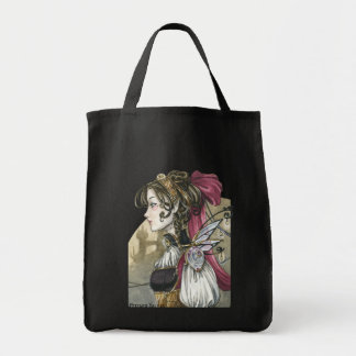 Steampunk Doll Grocery Tote