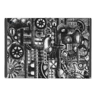 steampunk draw machinery cartoon mechanism pattern cover for iPad mini