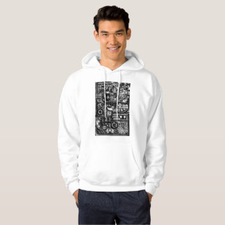 steampunk draw machinery cartoon mechanism pattern hoodie