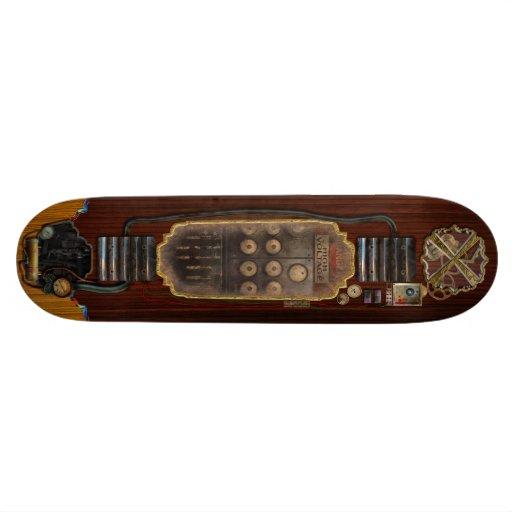 Steampunk - Electrical - Center of power Skate Board Decks