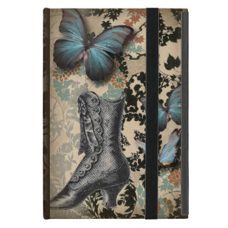 steampunk Ephemera floral Butterfly victorian Case For iPad Mini