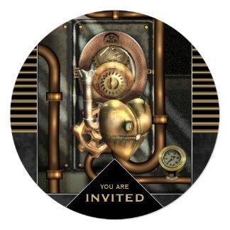 Steampunk Event Any Occasion 13 Cm X 13 Cm Square Invitation Card