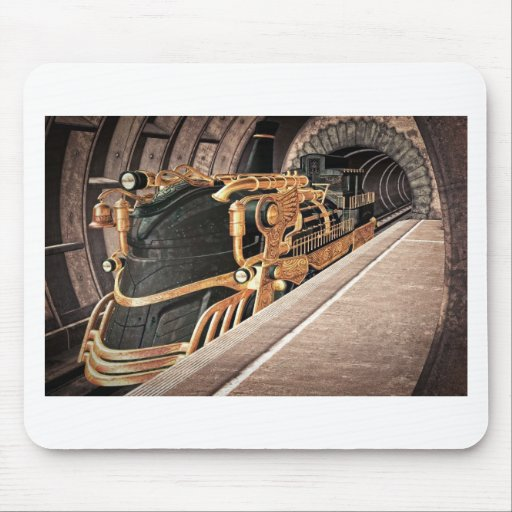 Steampunk Express Mouse Pads
