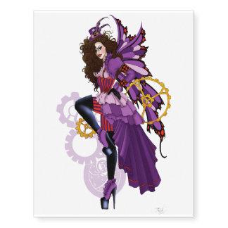Steampunk fairy all in purple
