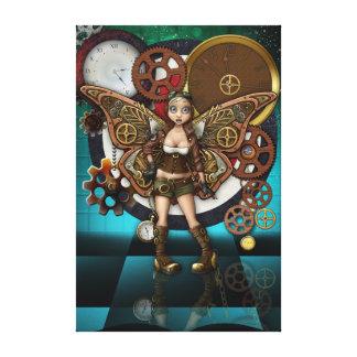 Steampunk Fairy gloss canvas Wall Art Canvas Print