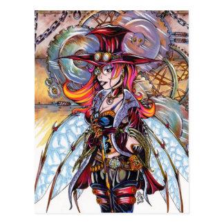 Steampunk Fairy Postcard