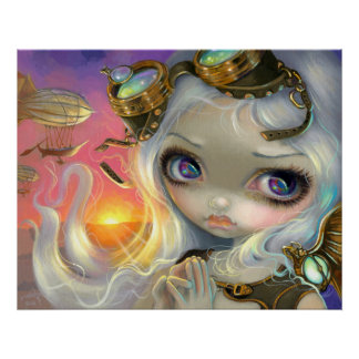 Steampunk Fairy Windswept ART PRINT