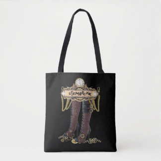 Steampunk fashion boots tote bag