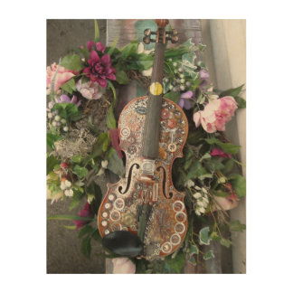 Steampunk Fiddle Wood Canvases