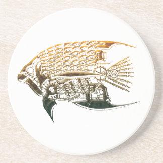 Steampunk fish coasters