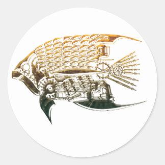 Steampunk fish stickers