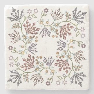 Steampunk Floral Clockwork Stone Coaster