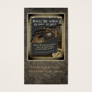 Steampunk Flying Machine Social Profile Cards