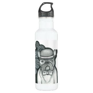 Steampunk French Bulldog water bottle