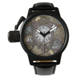 Steampunk, funny gecko wristwatch