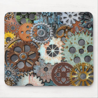 STEAMPUNK GEAR DESIGN MOUSEPAD