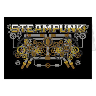 Steampunk Gears and Pipes Machine Card