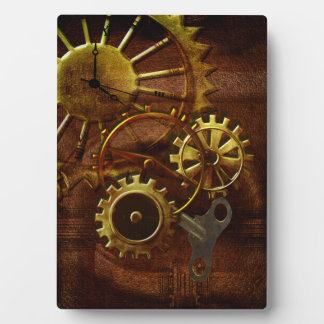 Steampunk Gears and Pipes Plaque