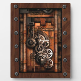 SteamPunk Gears and Rivets Photo Plaques