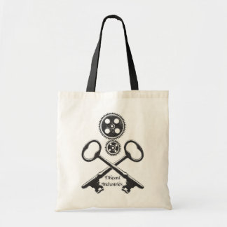 Steampunk Gears and Skull Tote Budget Tote Bag