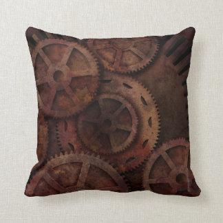 Steampunk Gears Industrial Fashion Throw Pillow