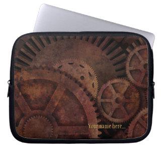 Steampunk Gears Industrial Machinery Laptop Sleeves
