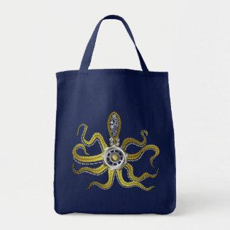 Steampunk Gears Octopus Kraken Bags